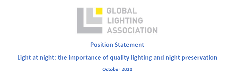 全球照明协会发布关于夜间照明立场声明